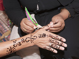 Henna Painting at Nubian Village on Elephantine Island  Aswan  Egypt