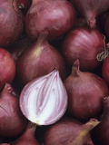Entire and Sliced Red Onions