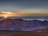 Sunrise at Haleakala Crater  Maui  Hawaii  USA
