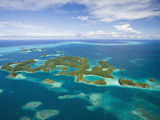 Aerial View of Seventy Islands  Micronesia  Palau