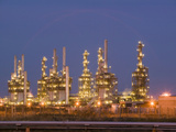 Petrochemical Plant at Night  Teeside  United Kingdom