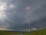Cloud-To-Ground Lightning Near Strong City  Kansas  USA