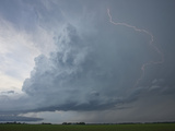 Intracloud Lightning from a Supercell Near Grand Island  Nebraska  USA