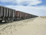 Iron Ore Train across the Sahara Desert to Nouadhibou  Mauritania