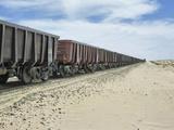 Iron Ore Train across the Sahara Desert to Nouadhibou  Mauritania