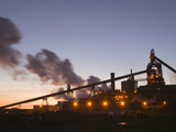 Dusk View of Corus Steelworks at Redcar  United Kingdom