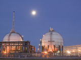 Full Moon over a Petrochemical Plant  Teeside  United Kingdom