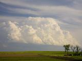 Developing Thunderstorm Clouds over Farm Fields in Central Nebraska  USA