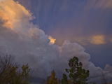 Edge or Flanking Line of a Supercell Cloud at Sunset Near Norman  Oklahoma  USA
