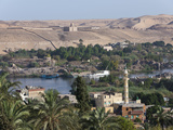Nile River Landscape of Aswan  Aswan  Egypt