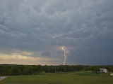 Cloud to Ground and Intracloud Lightning from the Avil of an Approaching Oklahoma Storm
