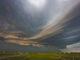 Layered Outflow and Inflow Bands from a Supercell East of Rapid City  South Dakota