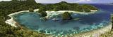 Bugis Schooner Dive Vessel at Anchor in a Limestone Island Lagoon  Uranie Island