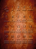 Illustration of a Portion of the Mayan Sacred Calendar Carved on Stone