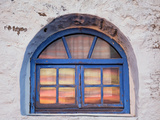 Window with Sunset Reflection  Mykonos  Greece
