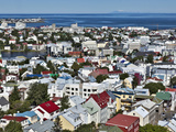 High Angle View of Reykjavik  Iceland