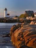 Annisquam Lighthouse at Sunset  Wigwam Point  Ipswitch Bay  Near Gloucester  Massachusetts