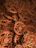 Conceptual Illustration of Old Cogs and Gears