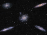 The Sculptor Galaxy Group Includes Five Bright Galaxies