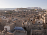 View on Old Town El Qasr in Dakhla Oasis  Libyan Desert  Egypt