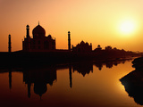 Taj Mahal at Sunset  Agra  India