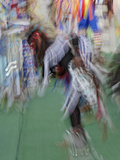 Abstract Motion View of Colorfully Dressed Native American Indian Dance  Montana