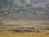 Masai Village Near Ngorongoro Crater  Tanzania