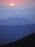 Sunrise over the Southern Appalachian Mountains  Great Smoky Mountains National Park