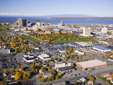 Downtown Anchorage in the Fall