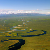 Aerial View of an Oxbow to the Side of the North Fork of the Tinayguk River