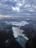 Melting Chunk of Brash Ice Showing the Large Underwater Portion  Beaufort Sea  Arctic Ocean