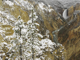 Lower Yellowstone Falls and the Grand Canyon of the Yellowstone after an Autumn Snowfall