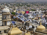 View over Udaipur  India from the City Palace