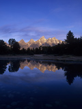 Teton Range Mirrored on a Beaver Pond Along the Snake River  Grand Tetons National Park  Wyoming