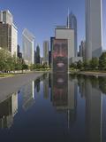 Crown Fountain  Millennium Park  Chicago  Illinois  Designed by Jaume Plensa