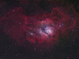 NGC 6530 the Lagoon Nebula  M8  Distance is 5800 Light Years
