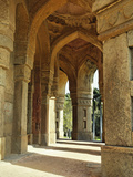 Columns on Tomb of Mohammed Shah  Lodhi Gardens  New Delhi  India