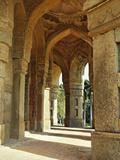 Columns on Tomb of Mohammed Shah  Lodhi Gardens  New Delhi  India