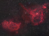 Heart and Soul Nebulae in Cassiopeia  Ici805 and Ici848