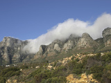 Fog on Table Mountain and the Twelve Apostles Above Cape Town  South Africa