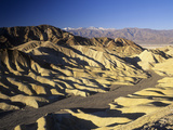 View of Zabriskie Point with Telescope Peak  11 049 Feet