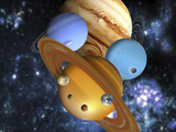 Illustration of the Nine Planets in Our Solar System