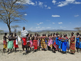 Samburu Tribesmen Dancing  Samburu Game Reserve  Kenya  Africa