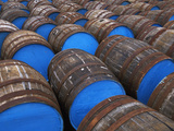Painted Whiskey Barrels  Scotland