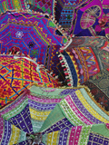 Colorful Umbrella Fabrics  Pushkar Fair  India
