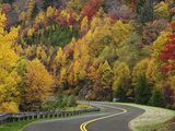Blue Ridge Parkway Road Winding Through the Southern Appalachian Mountains