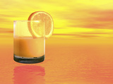 Conceptual Illustration of a Healthy Orange Juice Drink