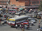 Traffic Congestion in Center of Jaipur  India