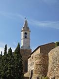 Church Steeple and City Wall  Pienza  Italy  Tuscany