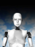 Conceptual Image of Female Likeness Cyborg